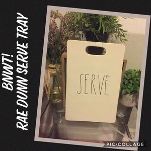 "BNWT! Rae Dunn ""Serve"" Tray"